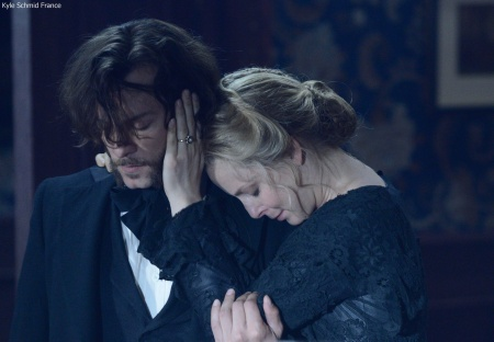 Kyle Schmid as ROBERT MOREHOUSE and Anastasia Griffith as ELIZABETH HAVERFORD